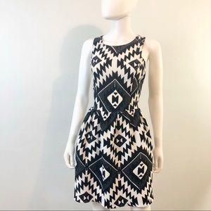 Sugarlips | Tribal Pattern Flare Sleeveless Dress